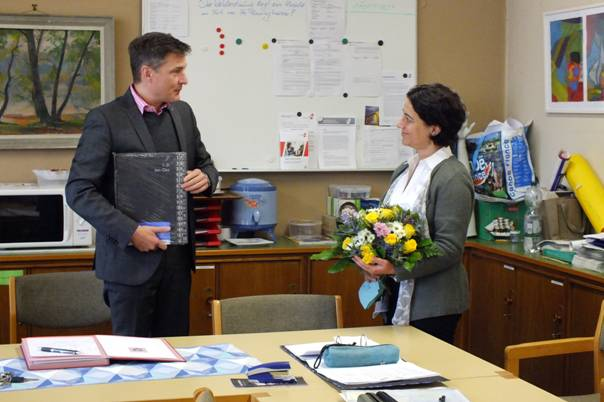 Rektor Käpernick und Frau Staudt