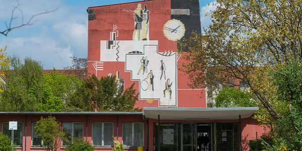 Wandmosaik an der WLS